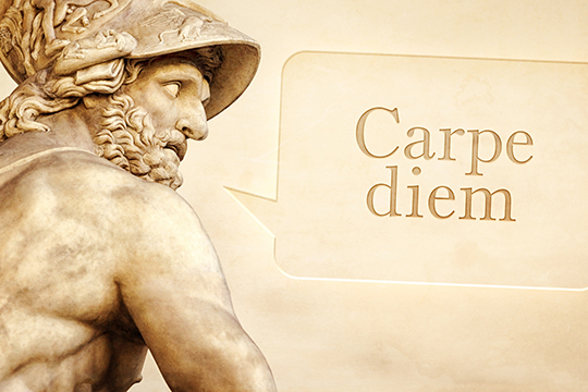 Menelaus statue with text